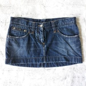 Dolce & Gabbana| Dark Wash Mini Denim Skirt